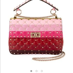 Authentic Valentino rockstud quilted Bag
